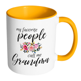 My Favorite People Call Me Grandma Accent Mug