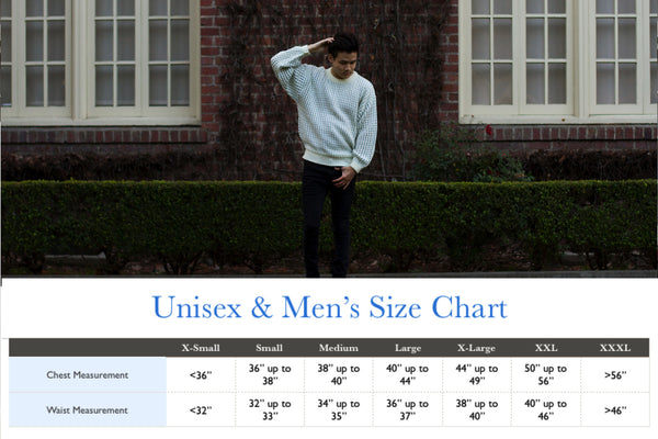 Men and Unisex Size Chart
