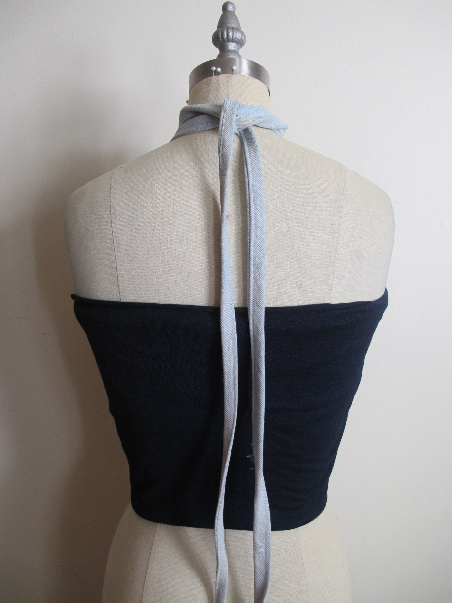 Denim Bralette Stretch Jersey Bandeau