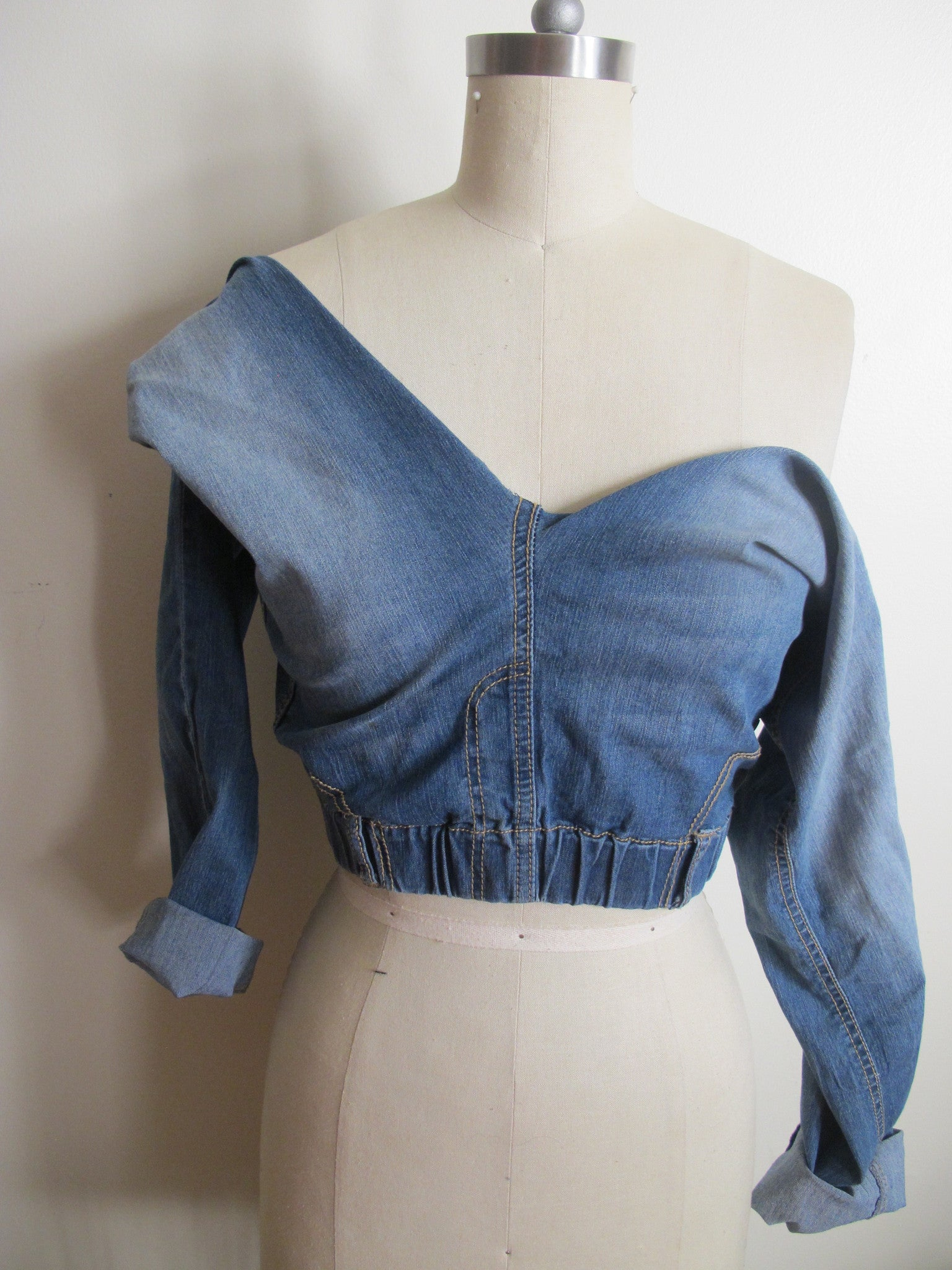 Off The Shoulder Denim Pant Top