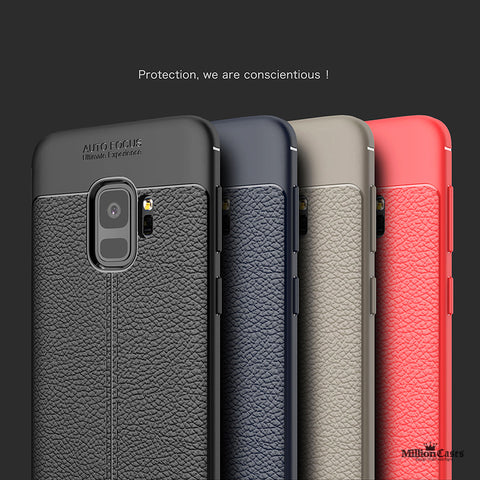 Luxury Shockproof TPU Leather Case for Galaxy S9/ S9 Plus