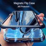 Auto-Fit Magnetic Glass Case for iPhone X 360 Protection