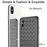 Luxury Grid Weaving Ultra Thin Soft BV Protective Case for iPhone X