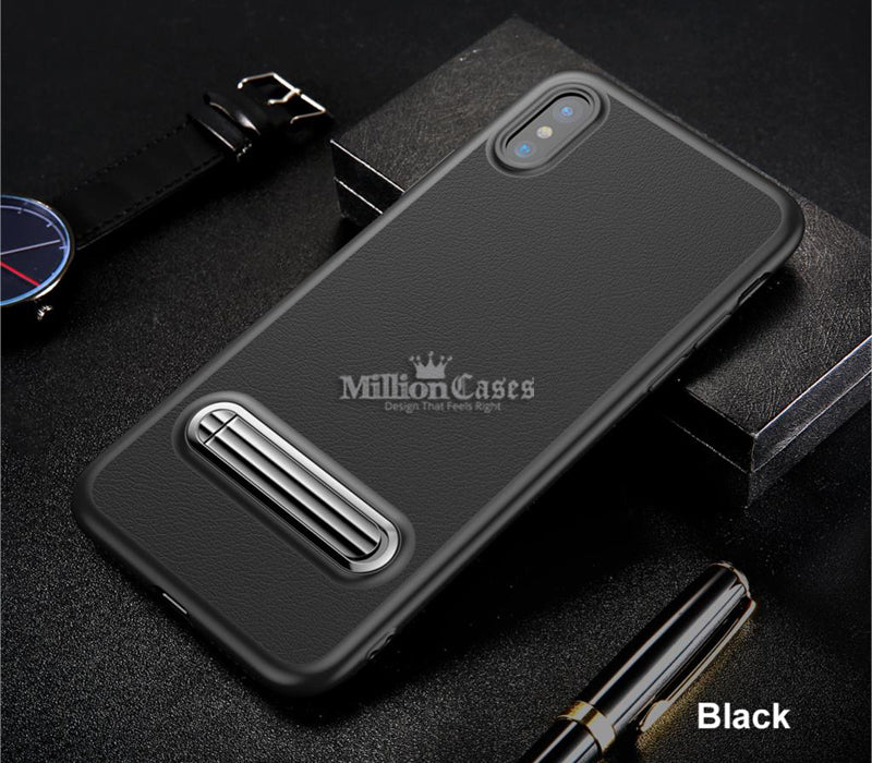 Luxury Magnetic Holder Kickstand Case for iPhone X