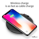 Qi Wireless Desktop Dock Station Charger Pad for iPhone, Samsung