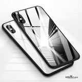 Msvii Luxury Slim Tempered Glass Case for iPhone X