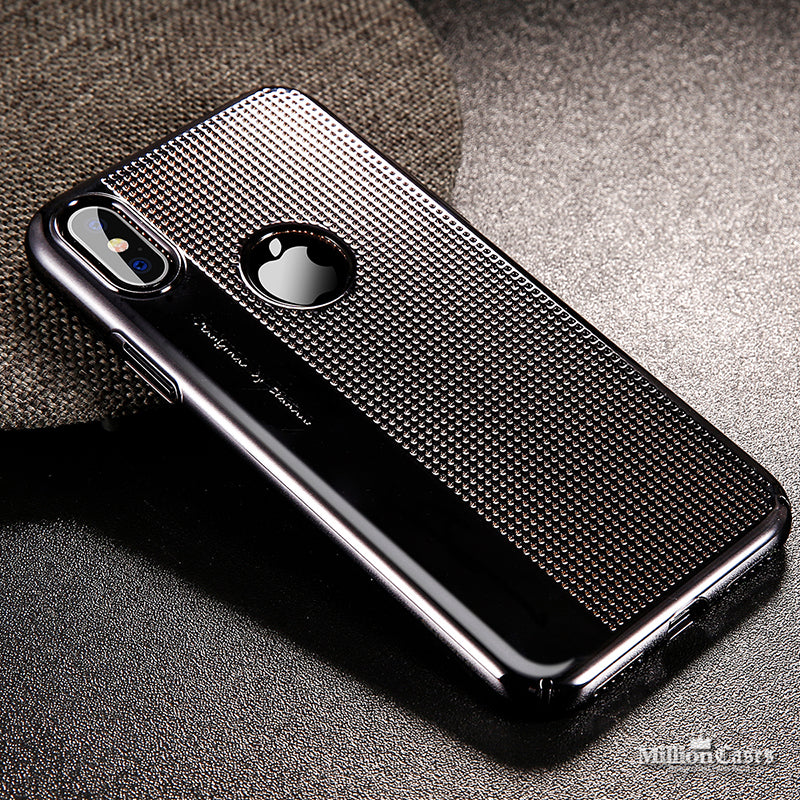 Luxury Plating Hard Plastic Hollow PC Case for iPhone X
