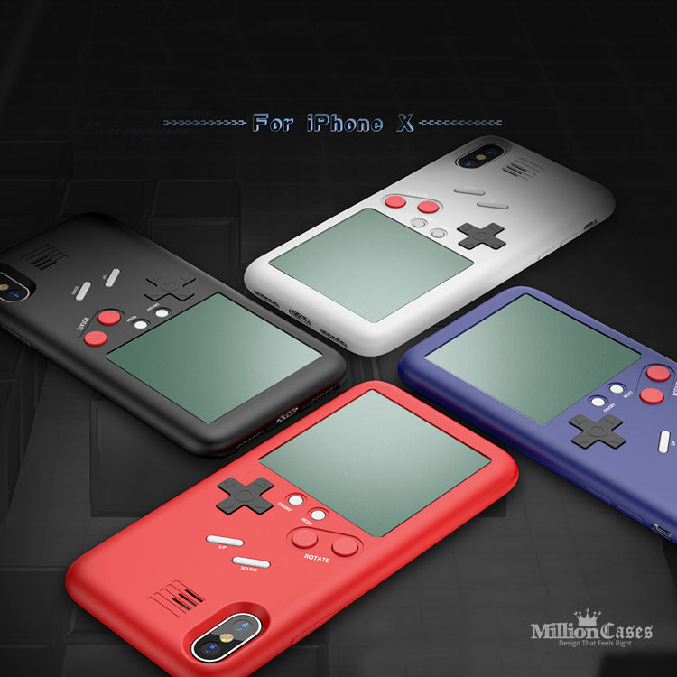 Gameboy Style Hard Protection Back Case for iPhone X