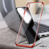 High-end Fashion Transparent Protective Shell Ultra thin Case for iPhone X