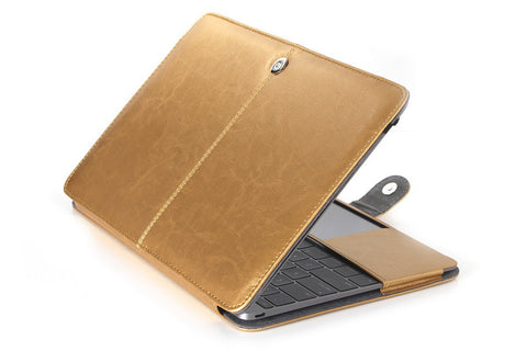 Ultra Thin PU Protective Shell Laptop Bag for MacBook Air Retina Pro 11, 12, 13, 15 inch