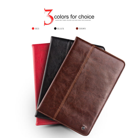 iPad Mini 4 Luxury Genuine Leather Smart Stand Flip Cover