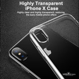 Ultra Thin Soft TPU Silicone Clear Back Case for iPhone X