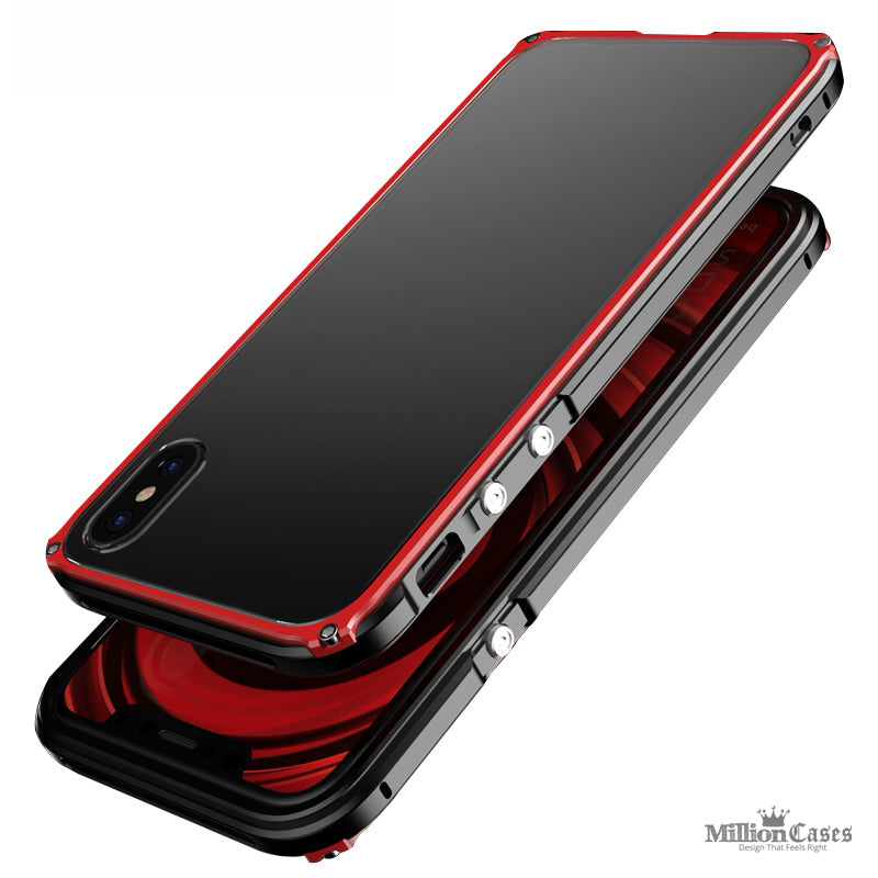 super popular 4fd95 64f56 iPhone X Aluminum Metal Frame Back Case With Full Protection