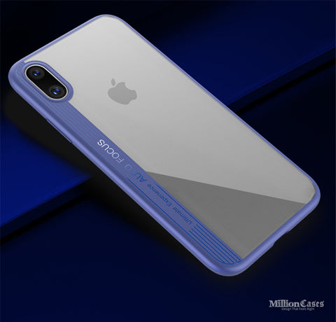 iPhone X High Quality Ultra Slim Flexible Silicone TPU Hybrid Case