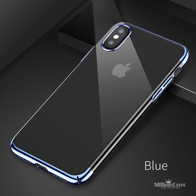 Apple iPhone X Electroplating ARC Edge Hard PC Clear Back Case
