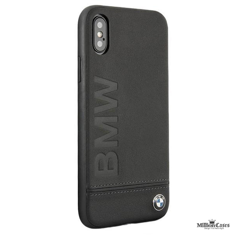 BMW Genuine Leather Case With Logo Imprint For iPhone X