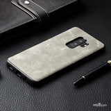 Luxury Vintage PU Leather Case for Galaxy S9, S9 Plus