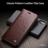 Handmade Genuine Leather Wallet Card Slot Bag Case for iPhone X