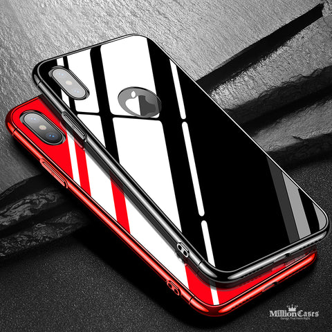 CAFELE Tempered Glass PC Case for iphone X