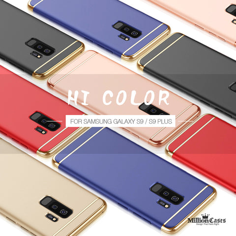 Electroplating 3 in 1 Hard Back Case for Galaxy S9/ S9 Plus