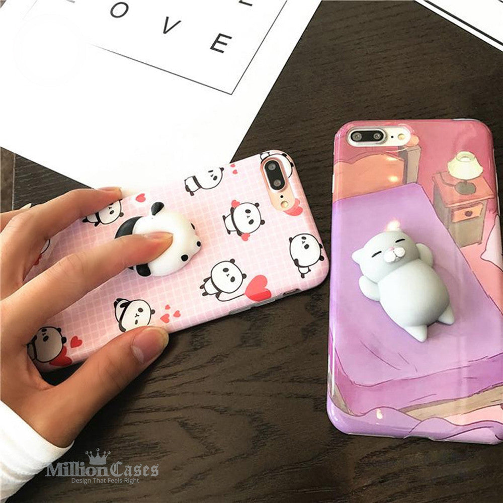 timeless design c5f9d c9ed6 3D Cute Soft Silicone Toy Squishy Phone Case for iPhone 7 7 plus