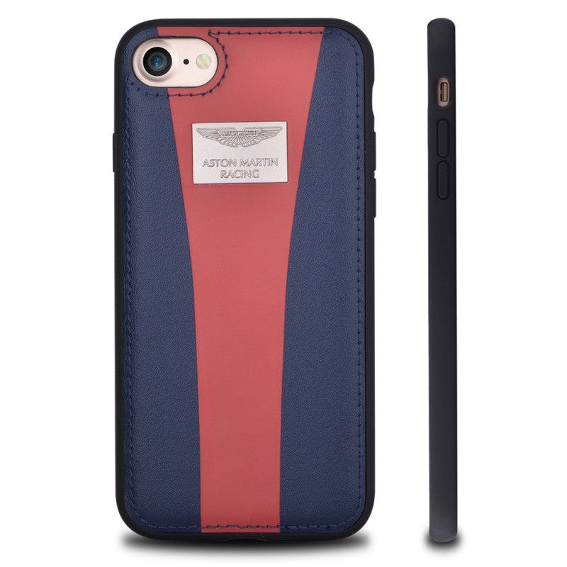los angeles 70a1c d30dc iPhone 7 Plus ASTON MARTIN RACING Leather Skin Hybrid Case
