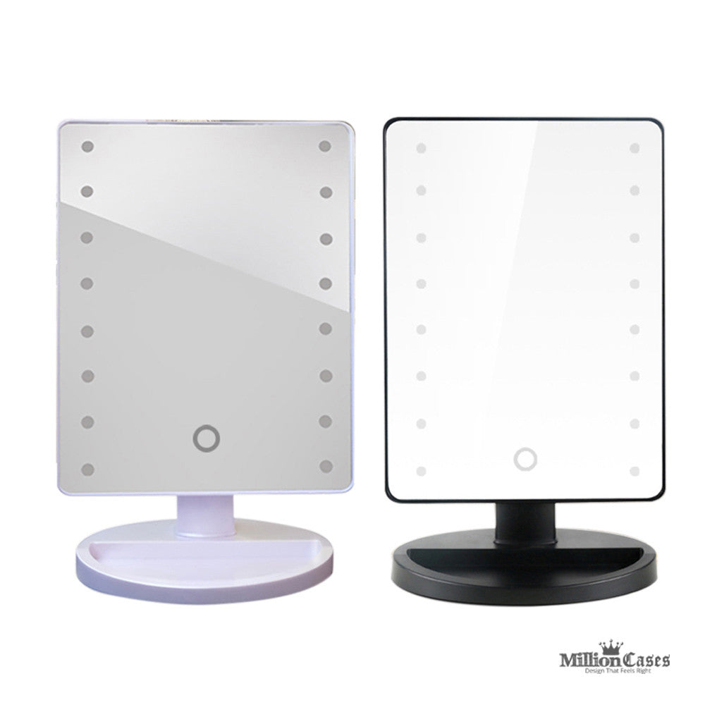 lighted vanity mirror with touch sensitive led lights million