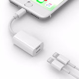 Audio Headphone Charging Dual Lighting Adapter Cable for iPhone 7