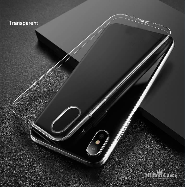 sports shoes ee3bb 571f2 Ultra Thin Soft TPU Silicone Clear Back Case for iPhone X