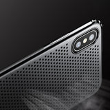 Luxury Smooth Hard Plastic Anti Knock Phone Cover For iPhone X