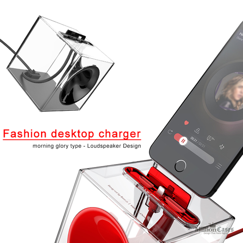 Desktop Charger for iPhone 5, 6, 6s, 7 Plus USB Charger Data Charging Holder Stand