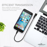 Elbow USB Nylon Braided Charger Cable for iPhone