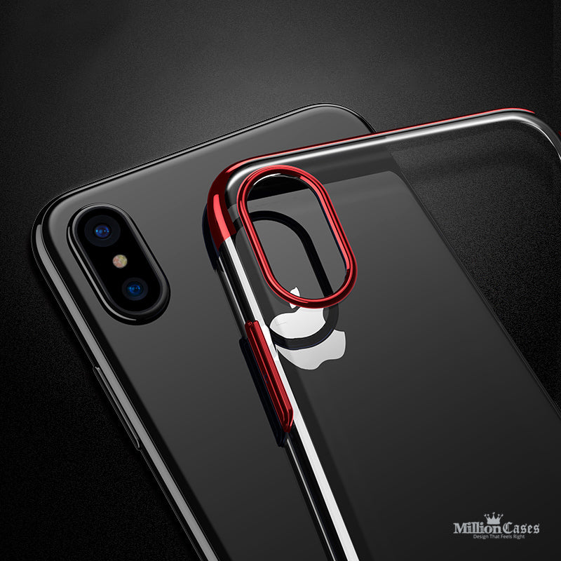 new product 24bdf e65ec iPhone X Luxury Transparent PC Ultra Thin Protective Shell Case