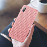 Baseus Luxury Grid Pattern Case For iPhone XS