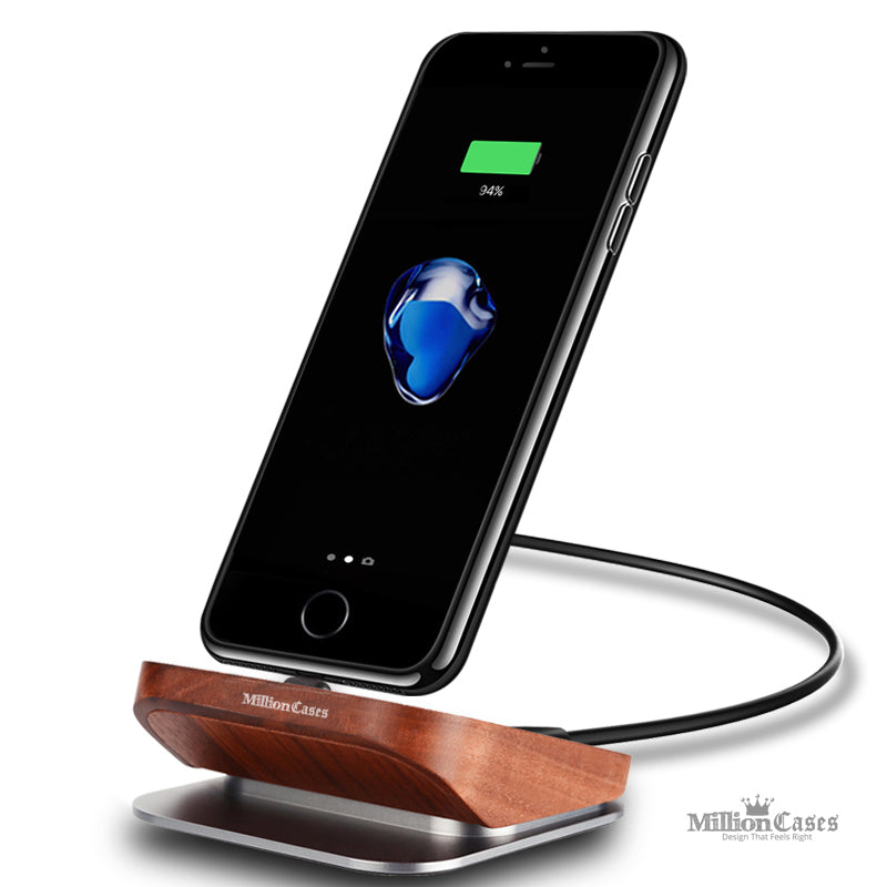 Wood Charger Dock Station for Apple iPhone