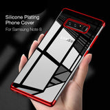 High-end Fashion Transparent Plated Phone Case for Galaxy Note 9