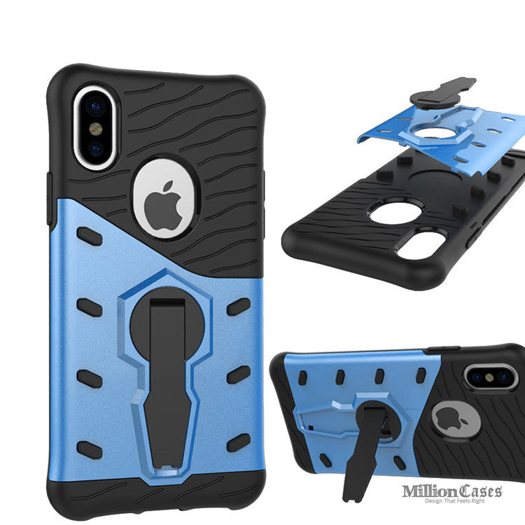reputable site 25ed5 86597 Apple iPhone X Stand Holder Back Armour Case
