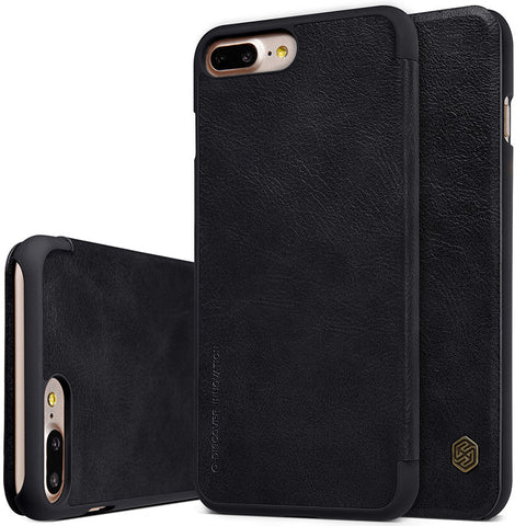 iPhone 7,7 Plus Qin Series Genuine Leather Wallet Flip Case