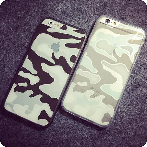 New Premium Crystal Transparent Clear Camouflage Cover Case