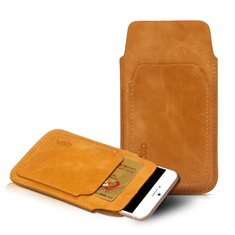 online retailer 1c3c7 afc1c New iPhone 6/6 Plus Genuine Leather Phone Pouch Cases with Front Card Slot