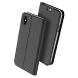 Luxury PU Leather Flip Case for Apple iPhone X