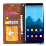 Luxury PU Leather Card Holder Frame Wallet Cases for Samsung Galaxy Note 8