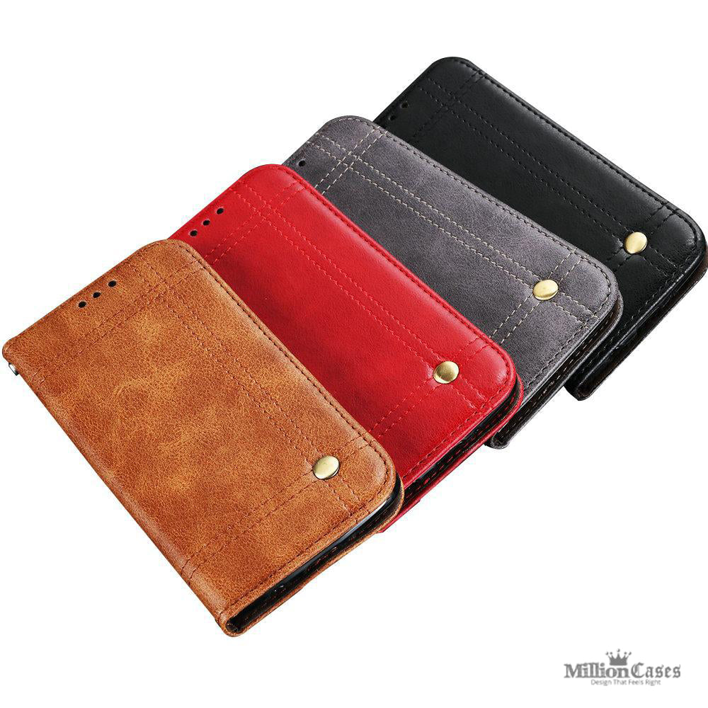 Luxury PU Leather Card Holder Frame Wallet Cases for Samsung Galaxy ...