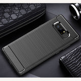 Luxury Silicone Carbon Fiber Cover for Galaxy Note 8