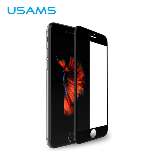 Original iPhone 7, 7 Plus Glass Carbon Fibre 4D Full Cover Tempered Glass Screen Protector