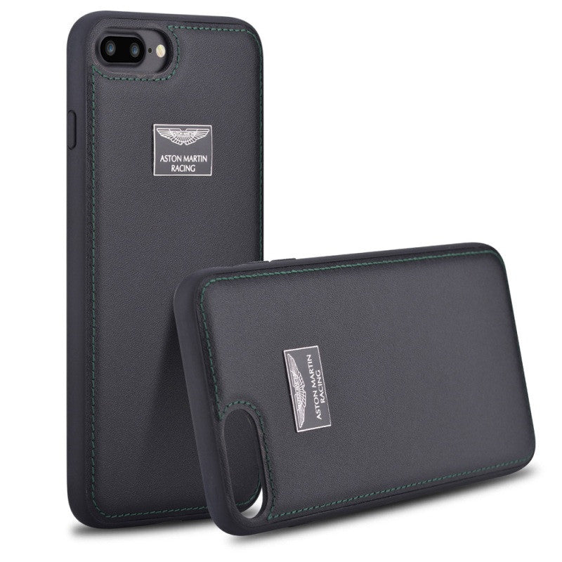 Original Aston Martin iPhone 7 Plus Genuine Leather Coated Hard Cover Phone Case