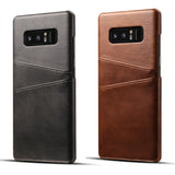 Genuine Leather Retro Vintage Wallet Back Cover For NOTE 9