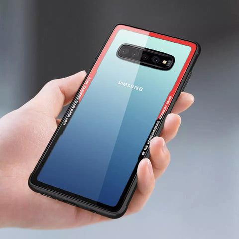 Luxury Transparent Tempered Glass Case for Galaxy S10/ S10 Plus