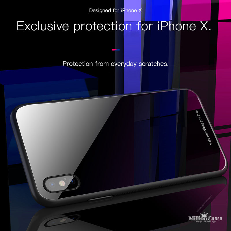 wholesale dealer 65a44 025ba HOCO 9H Tempered Glass Back Case for iPhone X