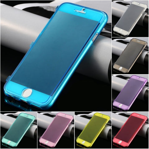 HOT! Ultra Thin Slim Clear Flip Case for Apple iphone6 6s Plus 5.5/ i6 6s 4.7 Soft TPU Silicon Cover Transparent for iphone 6s